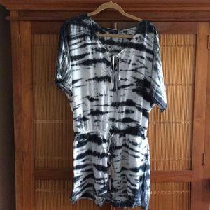 Gypsy05 Tie Dye Drop Tie Waist Tunic Dress NWT